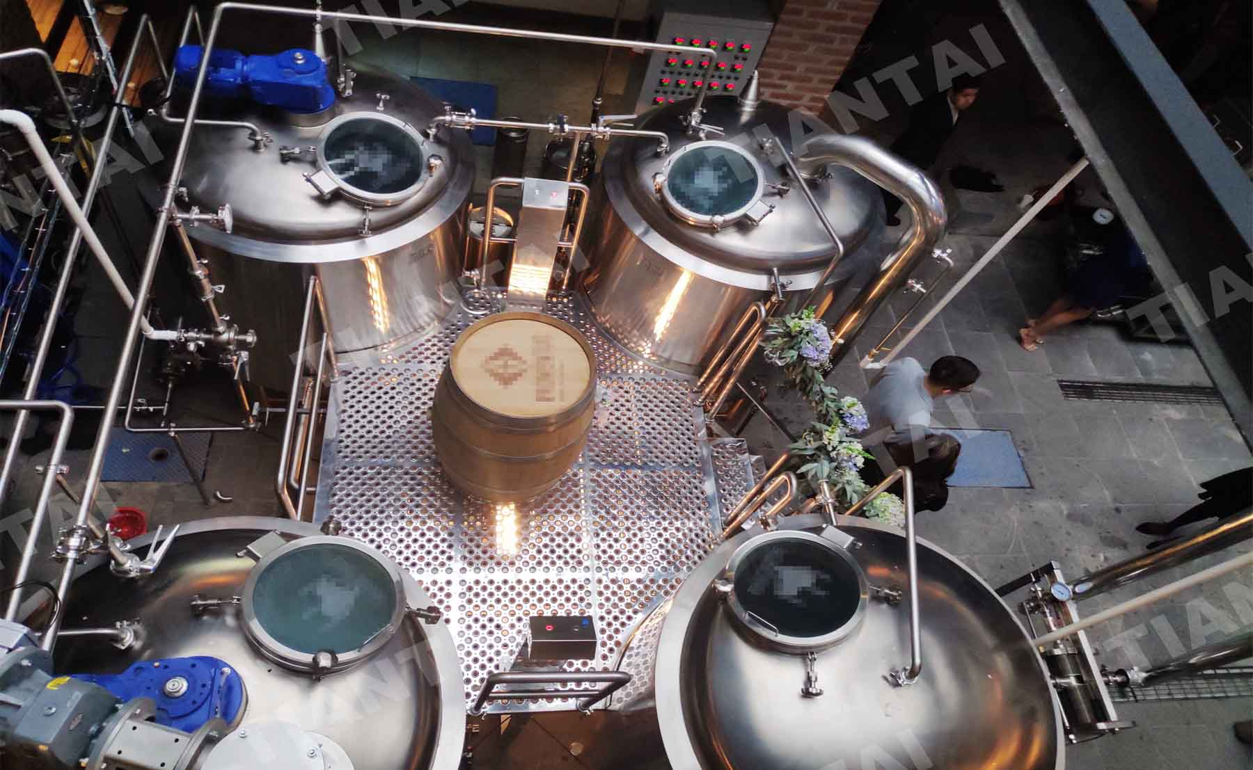 1200L/10BBL Beer Brewery Equipment in Mexico