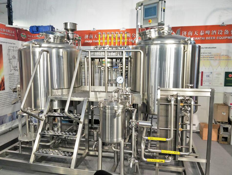 The necessary equipment for beer brewhouse to save labo